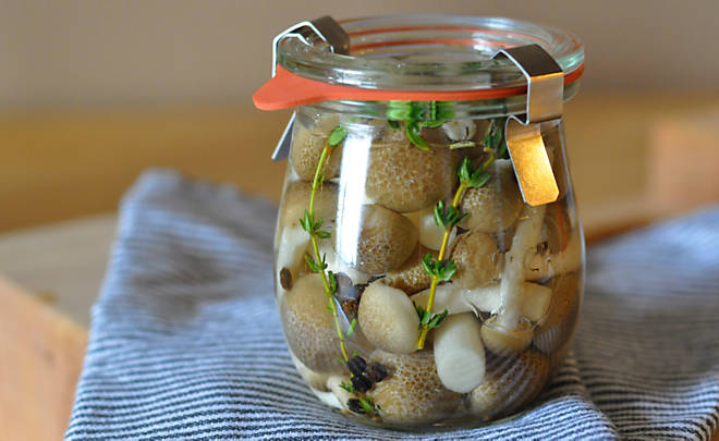 Quick Pickled Organic Wild Mushrooms Recipe | D'Artagnan