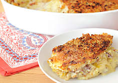 Potato Leek Gratin with Crispy Pancetta Recipe | D'Artagnan
