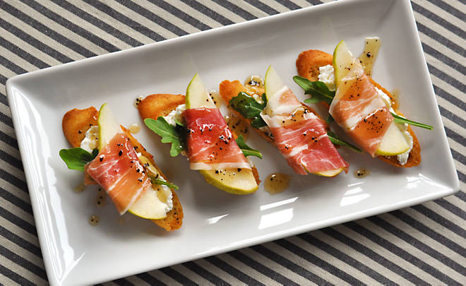 Prosciutto-Wrapped Pears with Bleu Cheese Recipe | D'Artagnan