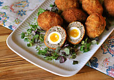 Mini Scotch Quail Eggs Appetizer Recipe | D'Artagnan