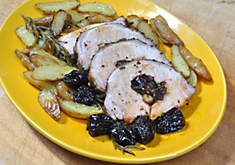 Stuffed Pork Loin with Prunes & Porcini Mushrooms | D'Artagnan