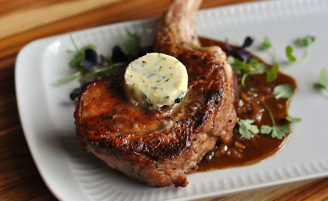 Veal Chops with Citrus-Herb Butter Recipe | D'Artagnan